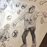 【こどものアート】野球シール(BASEBALL  PLAYERS)