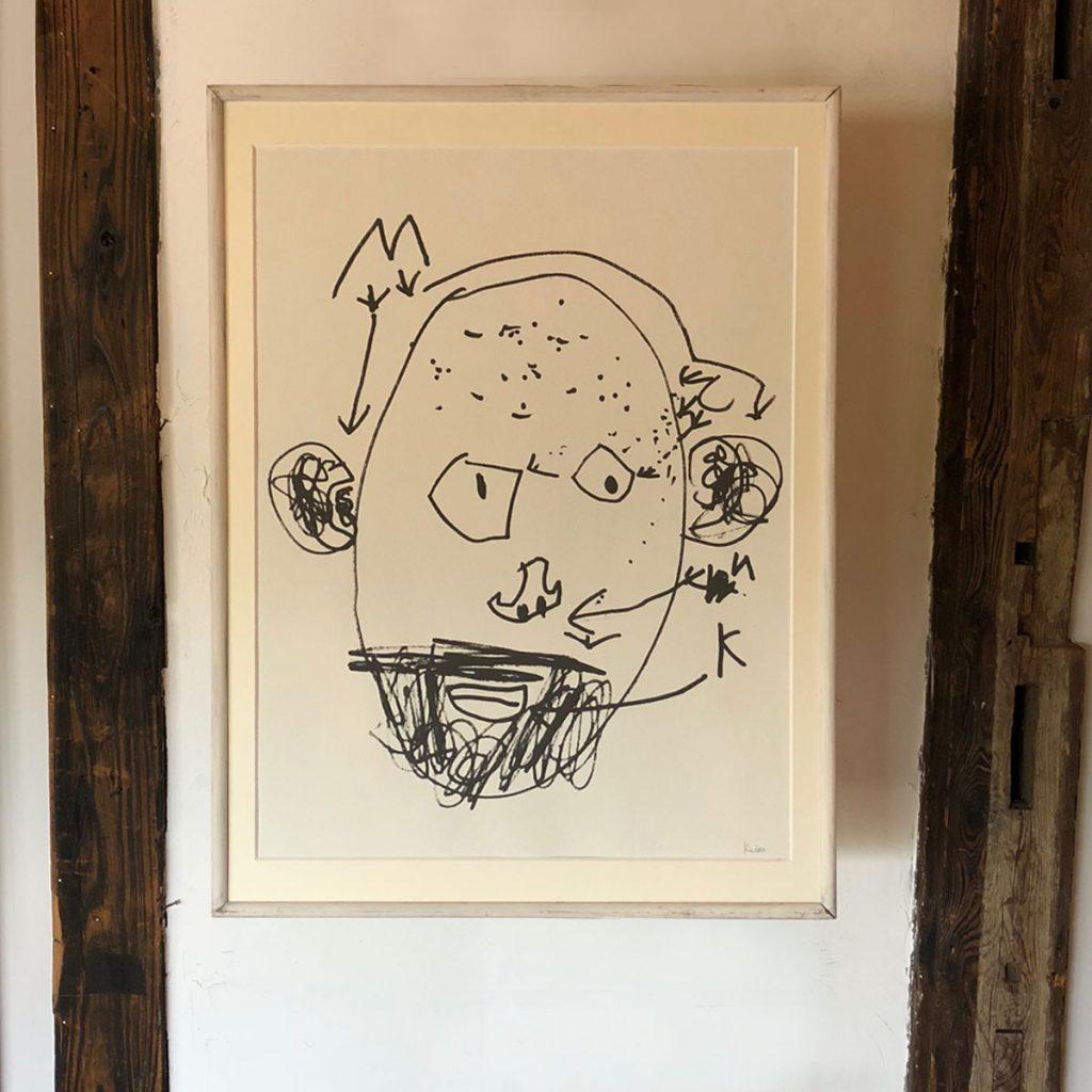 【こどものアート】アート顔大(額なし)マット付き