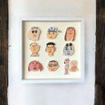 【こどものアート】『Faces』アート(箱型額付き)