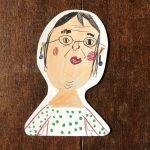【こどものアート】型抜きハガキ『メガネさん』